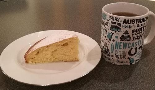 Tekake te-kake teacake og krus fra New Castle
