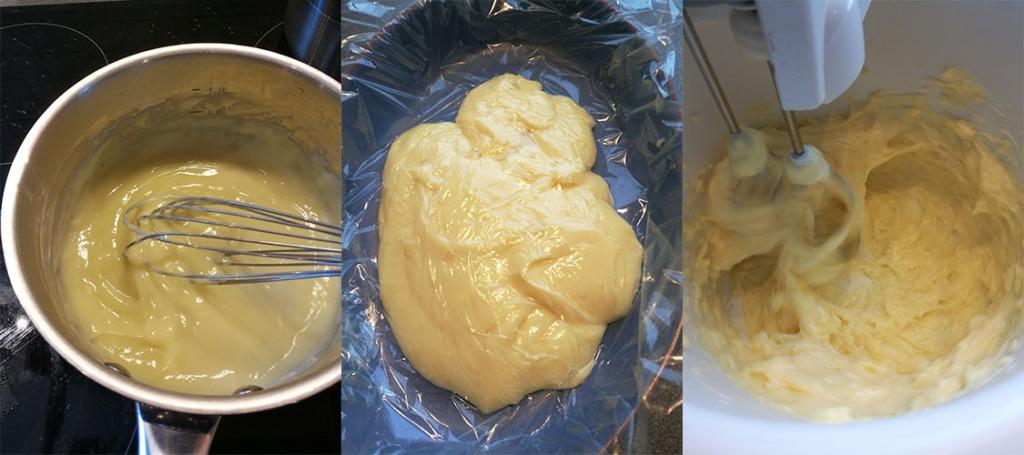 Heidis enkle vaniljekrem Ingredienser: 6 dl Melk 2 Egg 50 g Maizenna 1 ss Vaniljesukker 1 ss Sukker