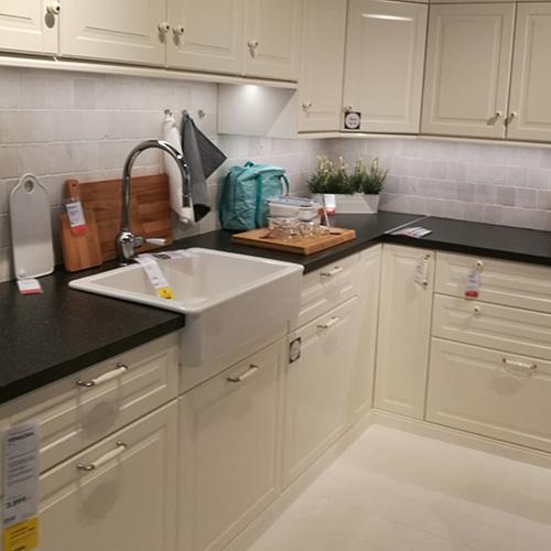 Planlegger å pusse opp kjøkkenet på sommerhuset vårt - Er i dag på IKEA, Leangen, Trondheim, Trøndelag, Norway for å se om vi finner en kjøkkeninnredning vi liker