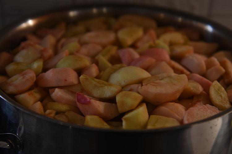 Eplemos Ingredienser: 1 kg Epler (skrelte og delte) ½ dl Vann ½ -3 dl Sukker