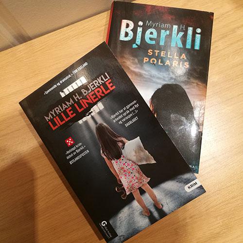 Bjerkeli, Myriam H. (2018) «Lille Linerle». Goliat Forlag, Krimforlaget og Bjerkeli, Myriam H. (2019) «Stella Polaris». Capitana