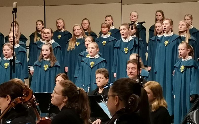 """21 desember 2019 Nidarosdomens Jentekor har konsert """"Julefryd"""" i Nidarosdomen, Trondheim, Trøndelag, Norway"""