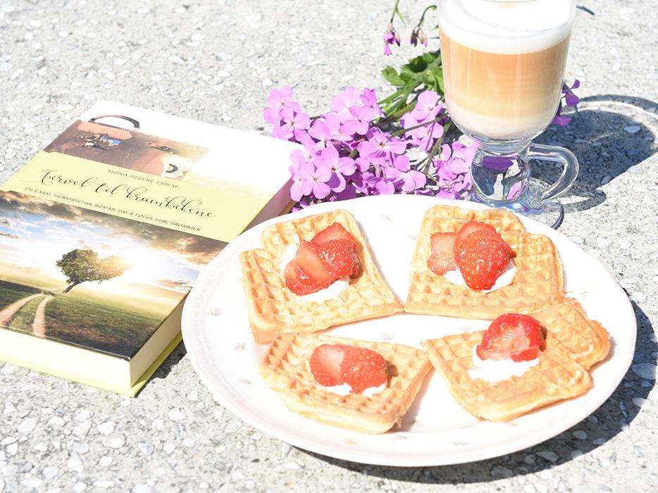 Eidem, Mona Helene (2020) «Farvel til krumkakene», Eidem forlag og Vafler Ingredienser: 1 Egg 5 dl Melk 350 g Hvetemel Smør