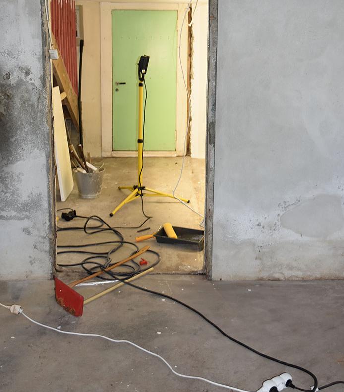 vårt - Garten, Trøndelag -- og det er klart for maling, nytt gulv, nye vegger mm