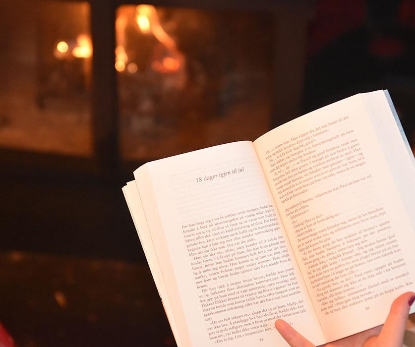 """Alexander, Poppy (2019) «25 dager til jul», Cappelen Damm foran peisen - kan det bli mer """"julete""""?"""