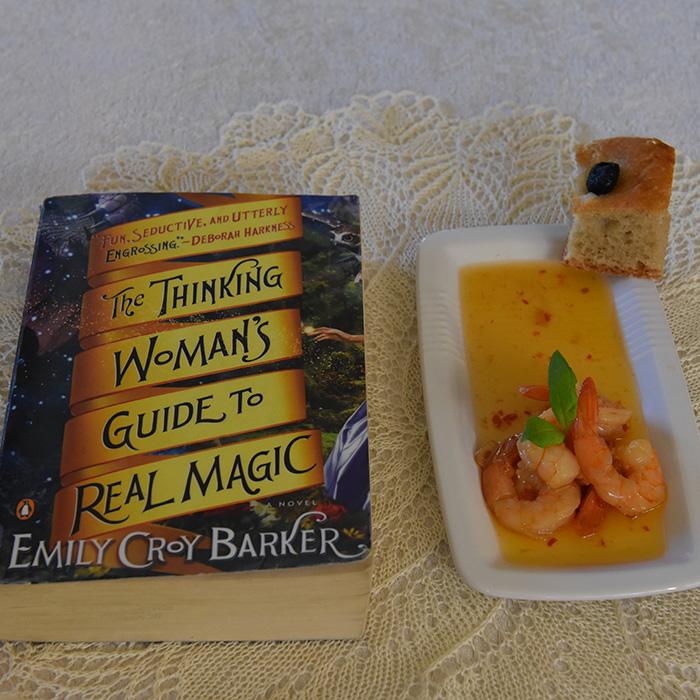 Baker, Emiliy Croy (2014) «The thinking woman's guide to real magic», Penguin books OG Odds Reker stekt med hvitløk, sursøt saus og chili Ingredienser: Scampi (ukokte) 1 ½ dl Olje (oliven) 6 fedd Hvitløk (Skivet) 3 Chili (tørkete) 6 ss Sweet-chilisaus https://heidisboble.no/ @heidisboble