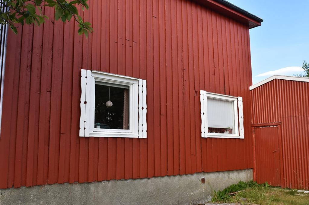 Før rivning av ytterpanel på sør-veggen Sommerhuset vårt - Garten, Trøndelag Norge https://heidisboble.no/ @heidisboble