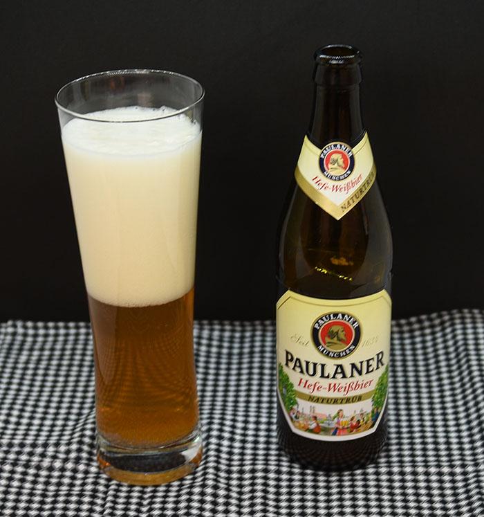 Paulaner Hefe-weissbier fra Paulaner Brauerei, Tyskland (5,5 %, 50 c)