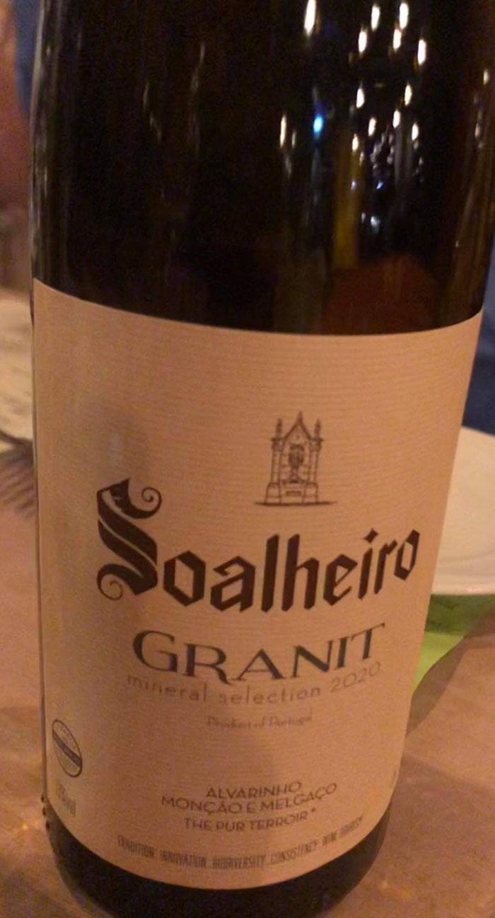 Soalheiro Granit Alvarinho 2020 Restaurant Troll Fosenkaia 4A, 7010 Trondheim, Norge https://heidisboble.no/ @heidisboble