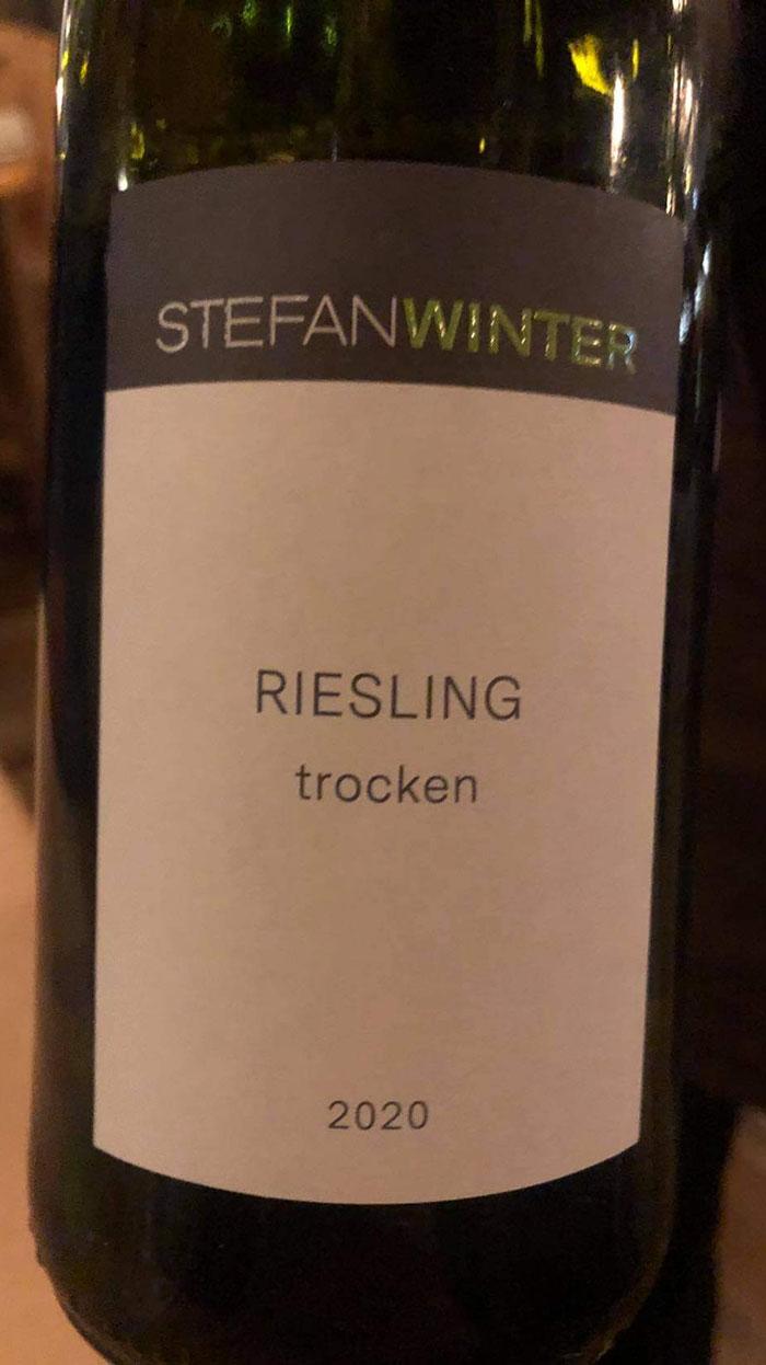Weingut Winter Riesling Trocken 2020 Restaurant Troll Fosenkaia 4A, 7010 Trondheim, Norge https://heidisboble.no/ @heidisboble