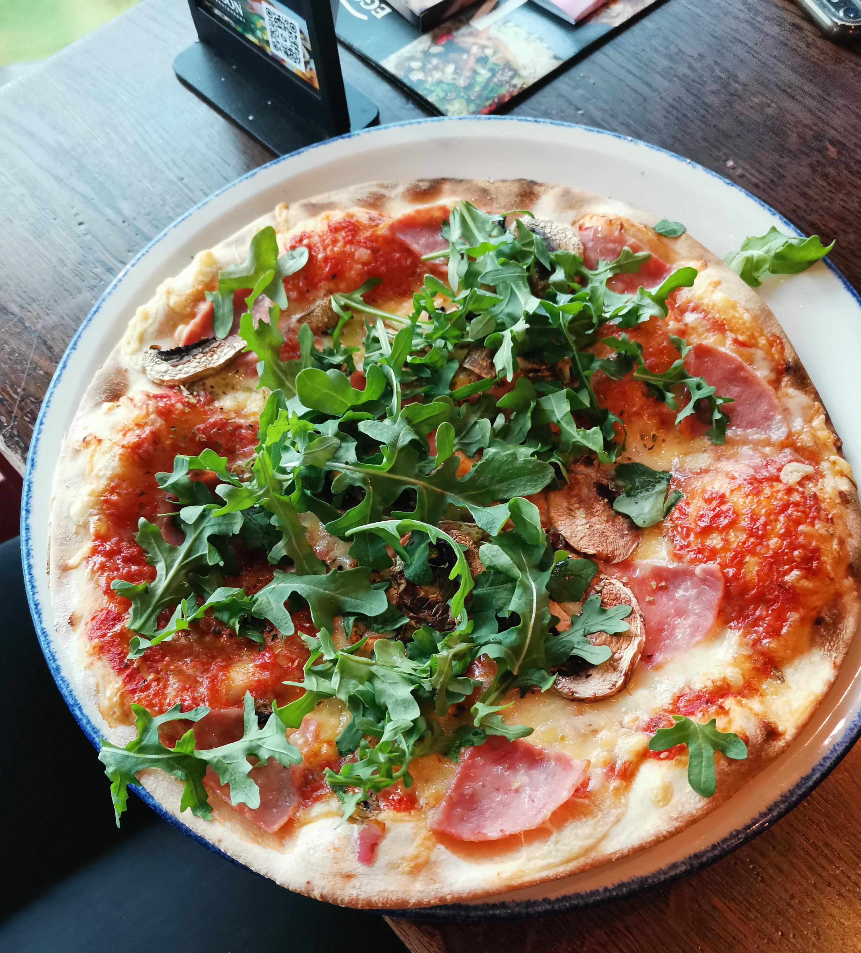 Pizza Prosciutto og sprite Egon i tårnet Otto Nielsens veg 4, 7052 Trondheim https://heidisboble.no/ @heidisboble